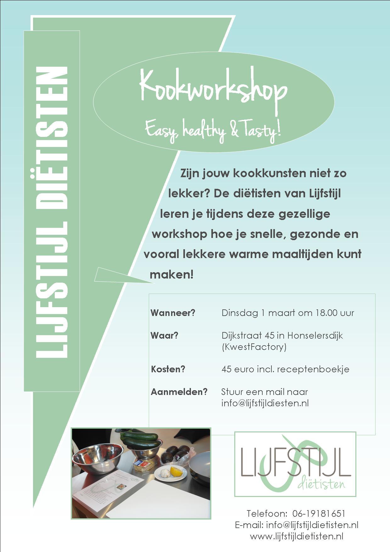 Kookworkshop easy, healthy & tasty