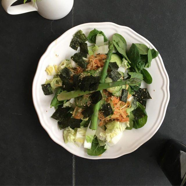 Vorig weekend at Marjolein deze heerlijke noedelsalade als lunch tijdenshellip