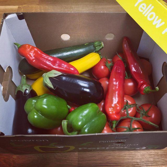 Vandaag werd deze gezonde box met groenten bij ons gebrachthellip