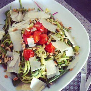 courgette pasta recept