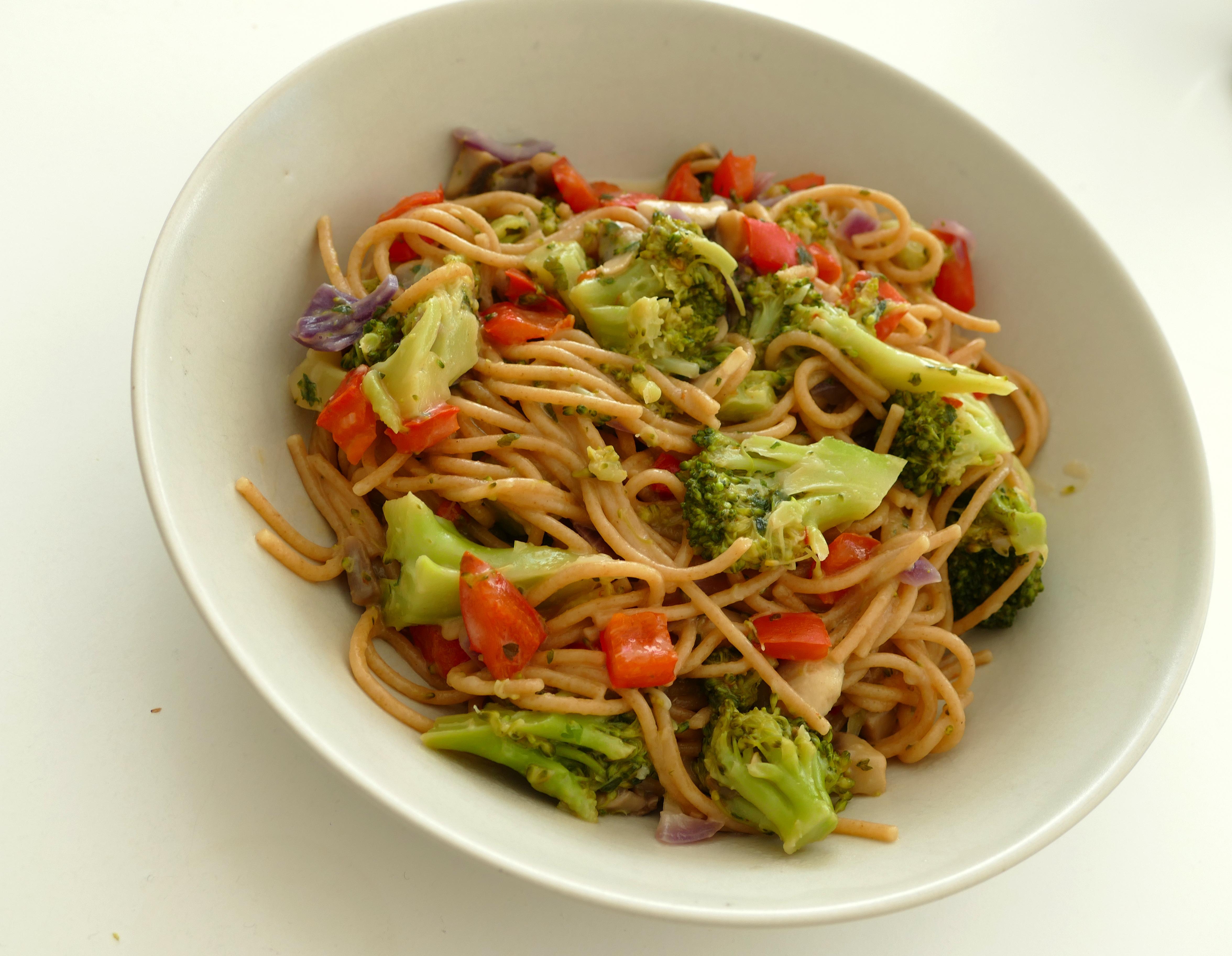 supersnelle pasta in een pan