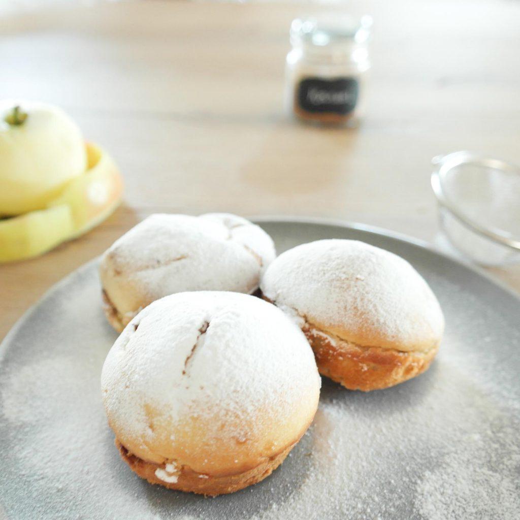 gezonde kwarkbollen met appel